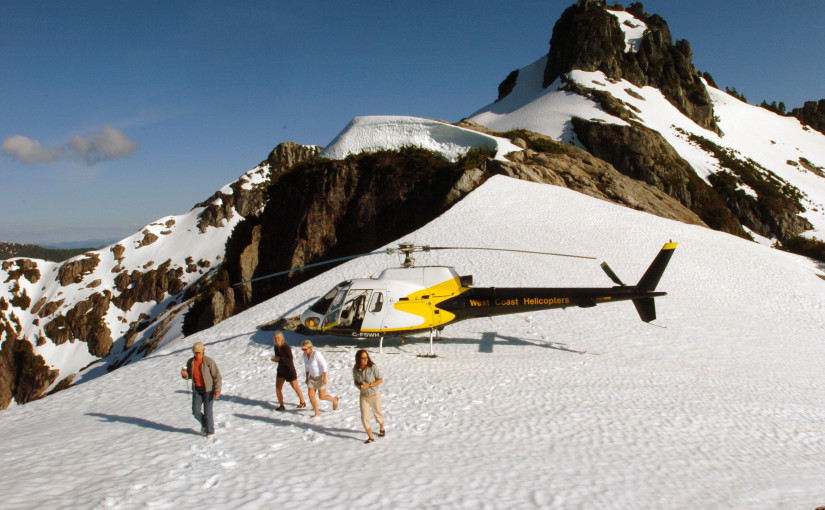 Helicopter excursion to Saw Tooth Mountains.